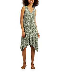 Plus Size Printed Handkerchief Hem Dress, Created for Macy's
