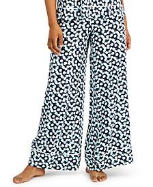 Printed Wide-Leg Woven Pajama Pants