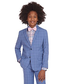 Big Boys Stretch Glen Plaid Suit Jacket