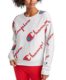 Women's Logo-Print Reverse Weave Sweatshirt