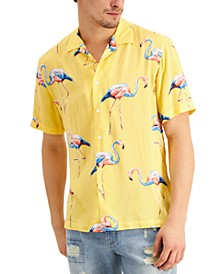 Men's Flamingo Camp Shirt, Created for Macy's