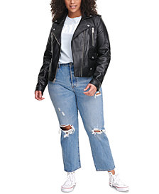 Levi's® Trendy Plus Size Faux-Leather Moto Jacket