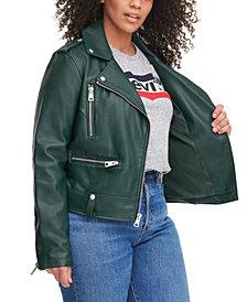 Levi's® Trendy Plus Size Faux-Leather Moto Jacket