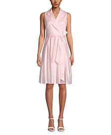 Notch-Collar Wrap Dress