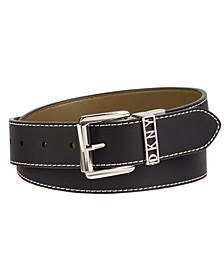 Contrast Stitch Reversible Belt