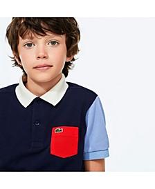 Little Boys Short Sleeve Colorblock Petit Pique Polo Shirt