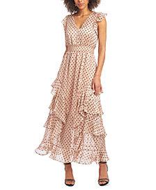 RACHEL Rachel Roy Ruffled V-Neck Maxi Dress