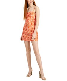 Etta Kiss-Print Sleeveless Dress