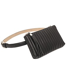 INC Channel-Stitch Convertible Belt Bag, Created for Macy's
