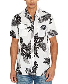 Men's Palm Leaf Print Shirt