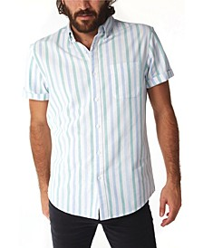 Men's Vertical Stripe Buttondown Shirt