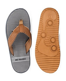 Men's Two-Toned Memory Foam Beach Sandals