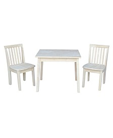 Table with 2 Mission Juvenile Chairs