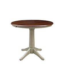 """36"""" Round Top Pedestal Table with 12"""" Leaf"""