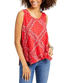 Bandana Blitz Tank Top, Created for Macy's