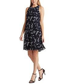 Petite Floral Crepe A-Line Dress