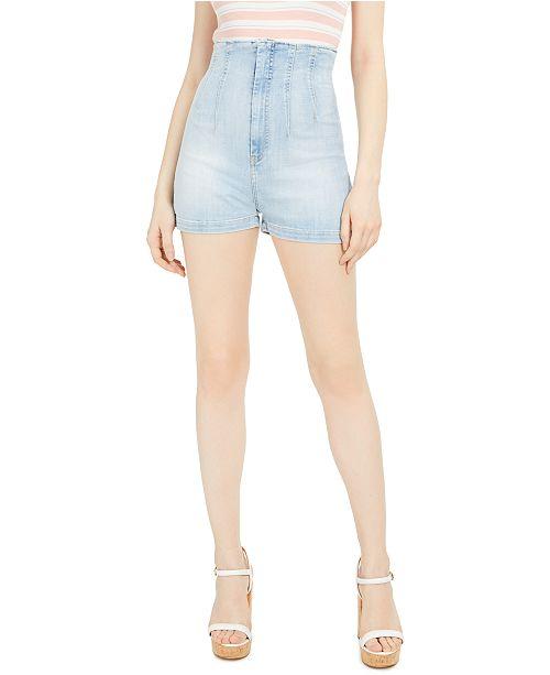 GUESS Alexis High-Waist Denim Shorts