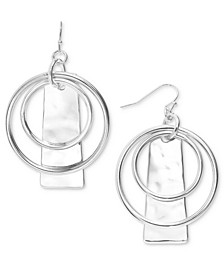 Circle & Hammered Rectangle Drop Earrings, Created for Macy's