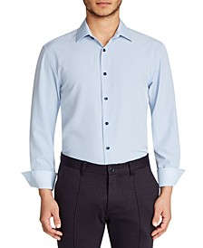 Men's Slim-Fit Solid Performance Stretch Cooling Comfort Dress Shirt