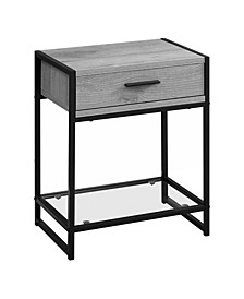 """Accent Table - 22"""" H, Tempered Glass"""