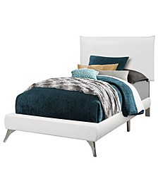 Bed - Twin Size Leather-Look with Legs
