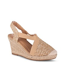 Eden Women's Closed Toe Espadrille Wedge Sandal
