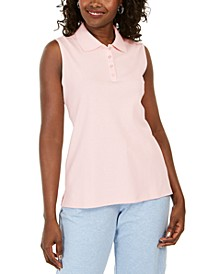 Cotton Sleeveless Polo Shirt, Created for Macy's
