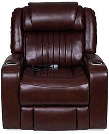 Henriel Leather Power Recliner with Air Massager