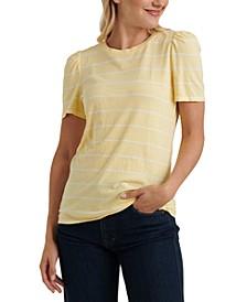 Striped Puffed-Sleeve T-Shirt