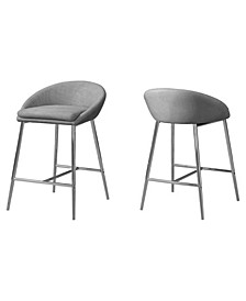 Barstool - 2 Piece Fabric Counter Height