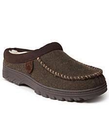 Fireside Men's Moc Toe Clog Slippers