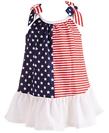Baby Girls Stars & Stripes Trapeze Dress