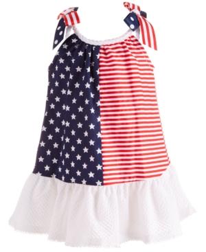 Bonnie Baby Baby Girls Stars & Stripes Trapeze Dress