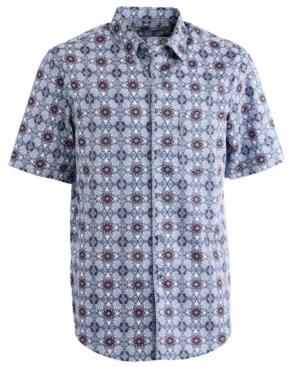 Tasso Elba Men's Acrosso Medallion-Print Shirt, Created for Macy's