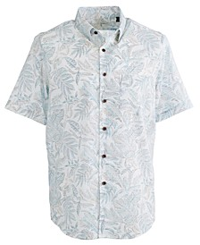 Men's Puntinismo Leaf-Print Shirt, Created For Macy's