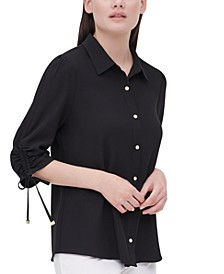 Drawstring-Sleeve Shirt