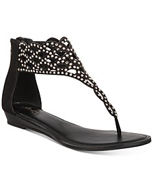 Ilene Glitzy Thong Flat Sandals, Created for Macy's
