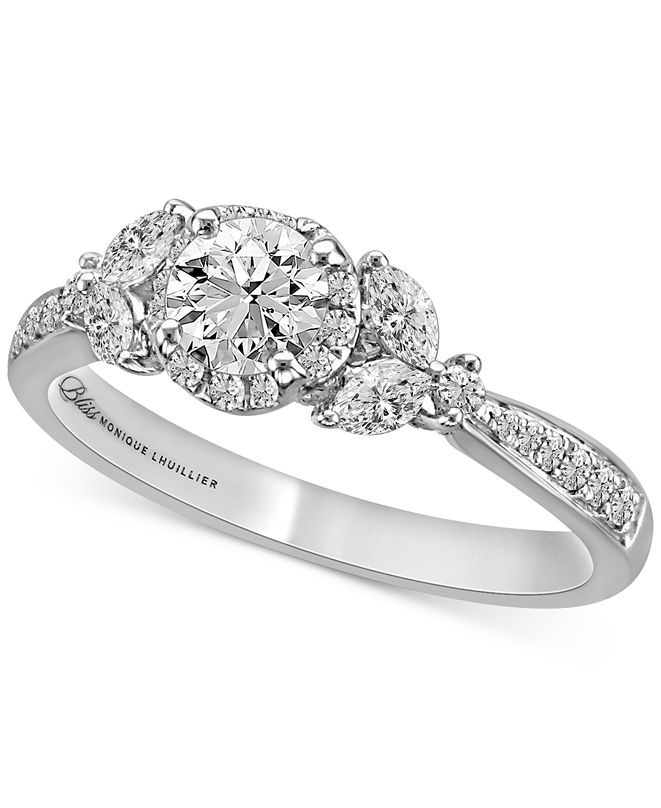Bliss Monique Lhuillier Bliss Monique Lhuiller Diamond Engagement Ring (1 ct. t.w.) in 14k White Gold