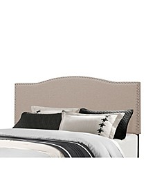 Kiley King Upholstered Headboard with Metal Bed Frame