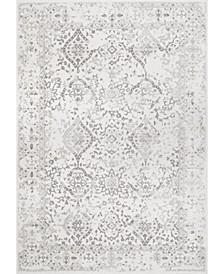 "Bodrum Oriental Vintage-Inspired Odell Ivory 6'7"" x 9' Area Rug"