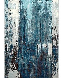 Carnival Abstract Haydee Blue 3' x 5' Area Rug
