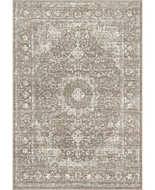 Amber Vintage-Inspired Persian Paisley Brown Area Rug