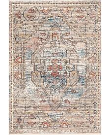 Delicate Prima Persian Vintage-Inspired Beige Area Rug