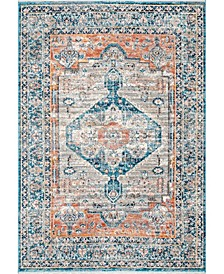 "Delicate Corolla Persian Vintage-Inspired Beige 6'7"" x 9' Area Rug"