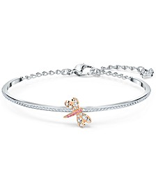 Silver-Tone Dragonfly Bangle Bracelet