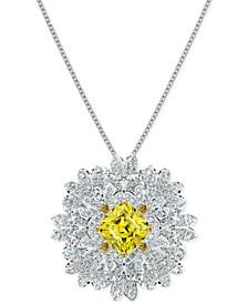 "Silver-Tone Eternal Flower Adjustable Pendant 31-3/8"" Necklace"