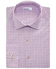Men's Organic Cotton Spanish Tile-Print Slim Fit Dress Shirt, Created for Macy's