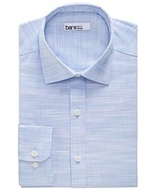 Men's Slim-Fit Stretch Slub Solid Dress Shirt, Created for Macy's
