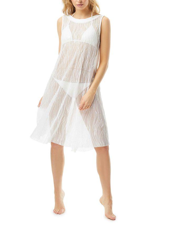 Carmen Marc Valvo - Sequin High-Neck Swim Dress Cover-Up