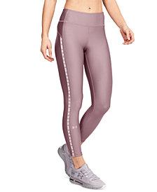 Under Armour HeatGear® Logo-Stripe Leggings